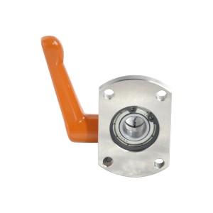LKP51-5230度梯形丝杠防转动固定件 对边法兰型 带轴承型